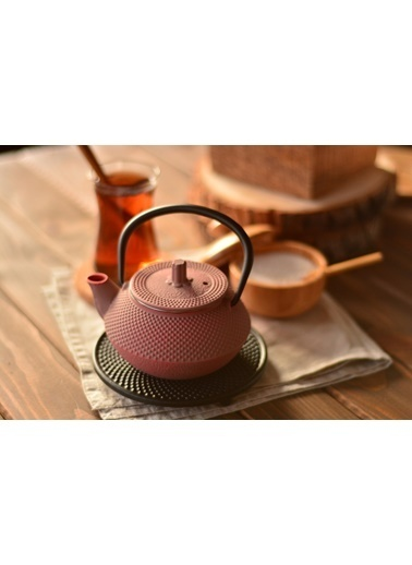 Taşev Linden - Sümbül 300 ml Toz Pembe Döküm Çaydanlık-Bambum